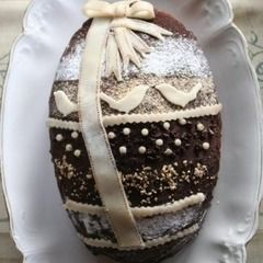 Easter Egg Shaped Cake