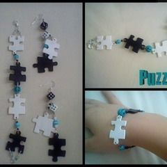 Puzzled: Bracelet & Earrings