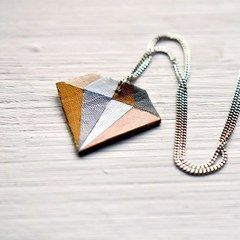 "Diy Geometric ""Diamond"" Necklace"