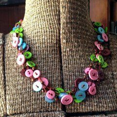 Beads And Buttons Necklace