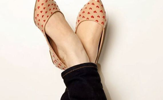 Alice & Olivia Inspired Heart Flats