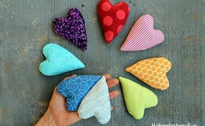 Diy.. Make Mini Heart Shaped Handwarmers
