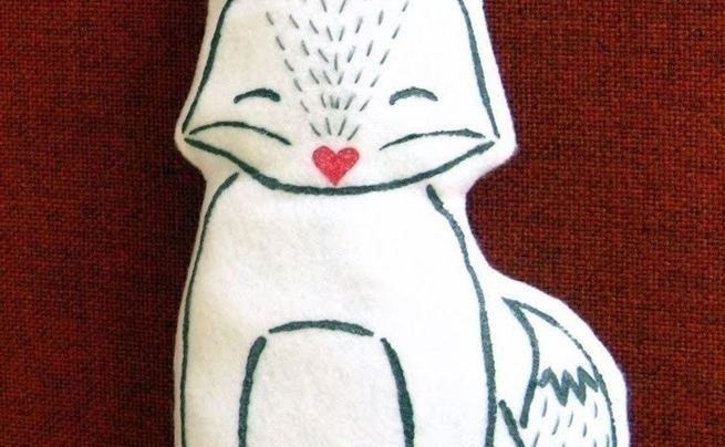 Felt Fox Pillow