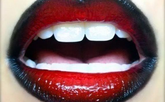 Red & Black Gradient Lips