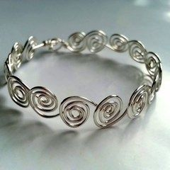 Swirly Wire Bracelet