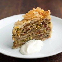 Baklava 'Pie' With Elderflower Yoghurt