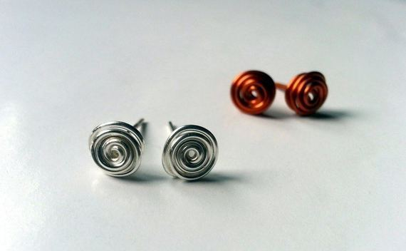 Swirly Stud Earrings