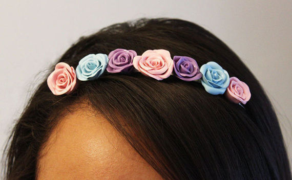 Clay Floral Headband