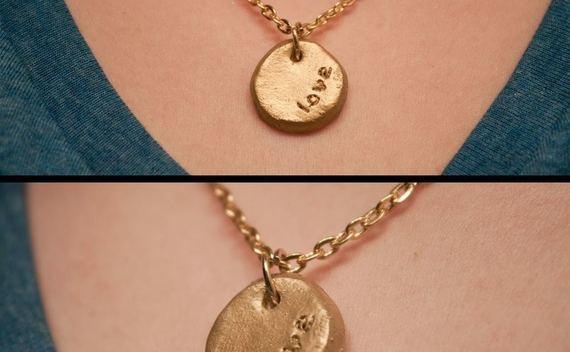 Diy Stamped Necklace