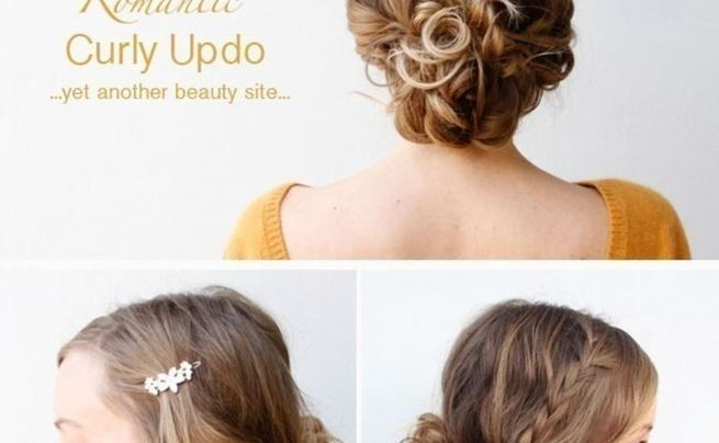 Romantic Curly Updo