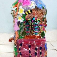 Plastic bottle crafts free craft projects ideas and for Wealth from waste ideas