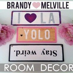 ❤ Diy Room Decor : Brandy Melville Inspired Wooden Signs