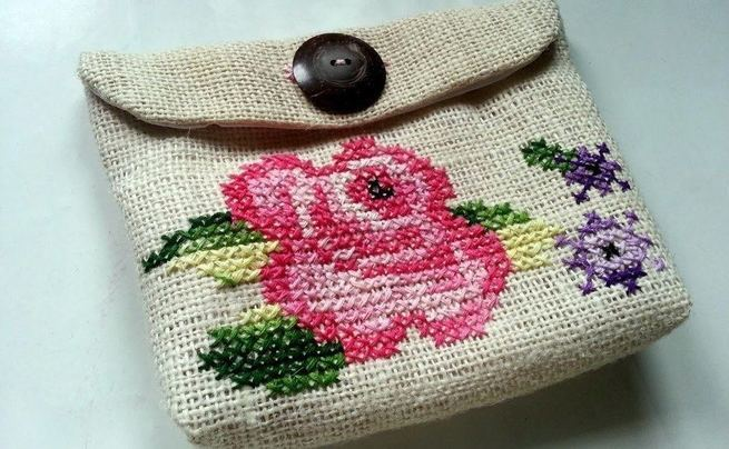 Cross Stitch Purse