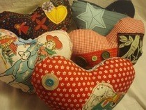 Scrappy Stuffed Heart