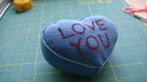 Candy Heart Plushie