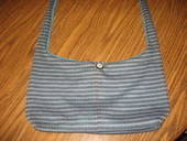Striped Shoulder Bag.