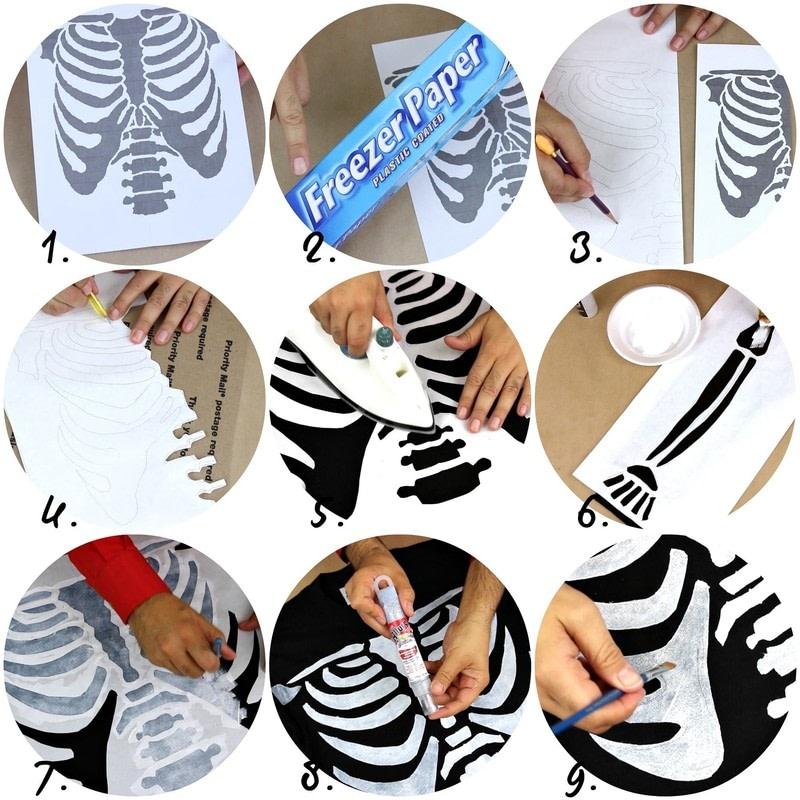 Skele Tee Diy 183 How To Embellish A T Shirt 183 Art On Cut