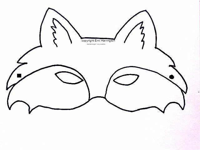 Comprehensive image regarding printable fox masks