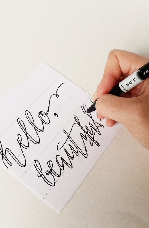 How to create fake calligraphy · draw a piece of