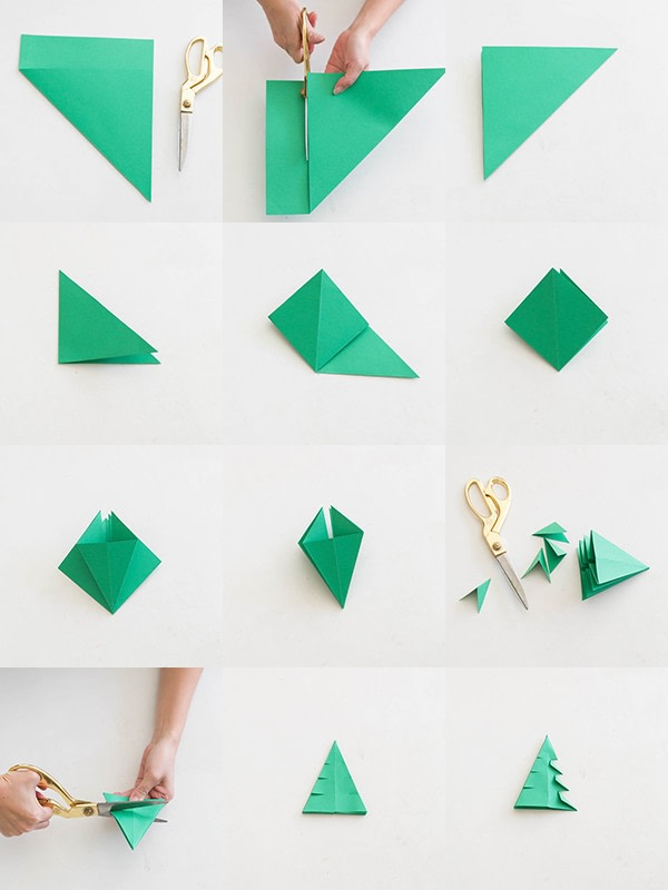 Easy Origami Christmas Tree Folding Instructions  How to