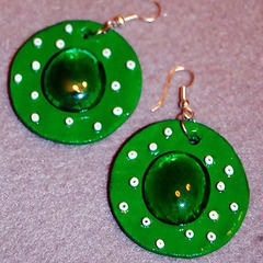 Green Spring Earrings