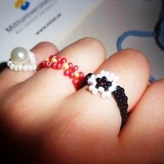 Rings Made Out Of Beads