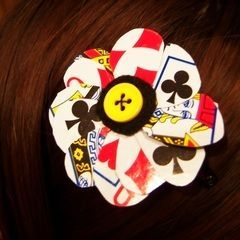 Playing Card Hairclip