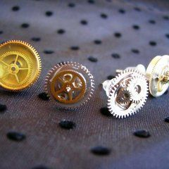 Steampunk Ear Studs
