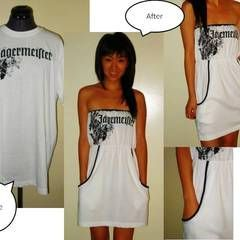 Repurposed X-Large T-shirt Into Fabulous Cover Up!