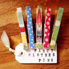 Decoupage Clothes Pins