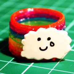 Rainbow Cloud Ring