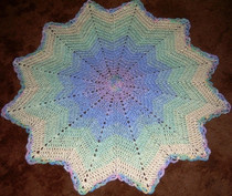 Blended Rainbow Crocheted Round Ripple