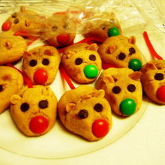Peanut Butter Xmas Mice Cookies.