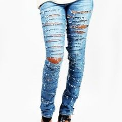 All American Slashed Skinny Jeans