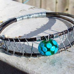Woven Wire Bangle Bracelet