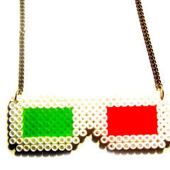 3 D Glasses Hama Necklace