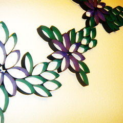 Expended Flower Wall Art Using Paper Rolls
