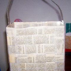 Paper Book Purse
