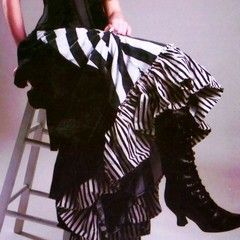 Stripey Victorian Bustle Skirt