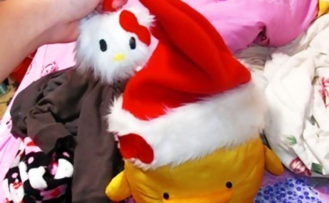 Hello Kitty Santa Hat