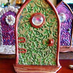 Polymer Clay Fairy Door