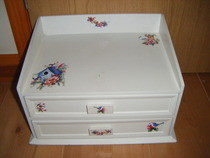 Vintage Bird Letter Holder Desk Drawer