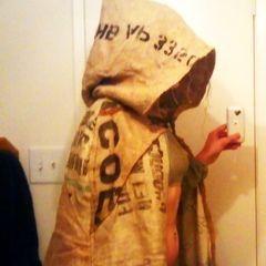 Burlap Hooded Cloak