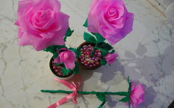 Crepe Paper Rose