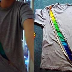 Zipper Rainbow T Shirt Recon