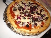 Red White and Black Pizza