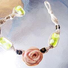 Rose Hemp Bracelet