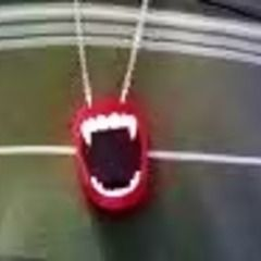3 D Vampire Teeth Necklace!