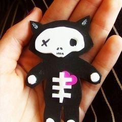 Emily Strange Kitten Pin