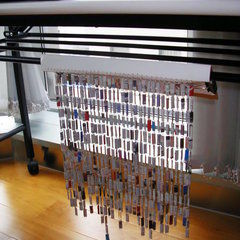 Curtains Made From Paper Clips